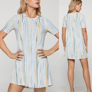 BCBGeneration Textured Stripes A-Line Dress